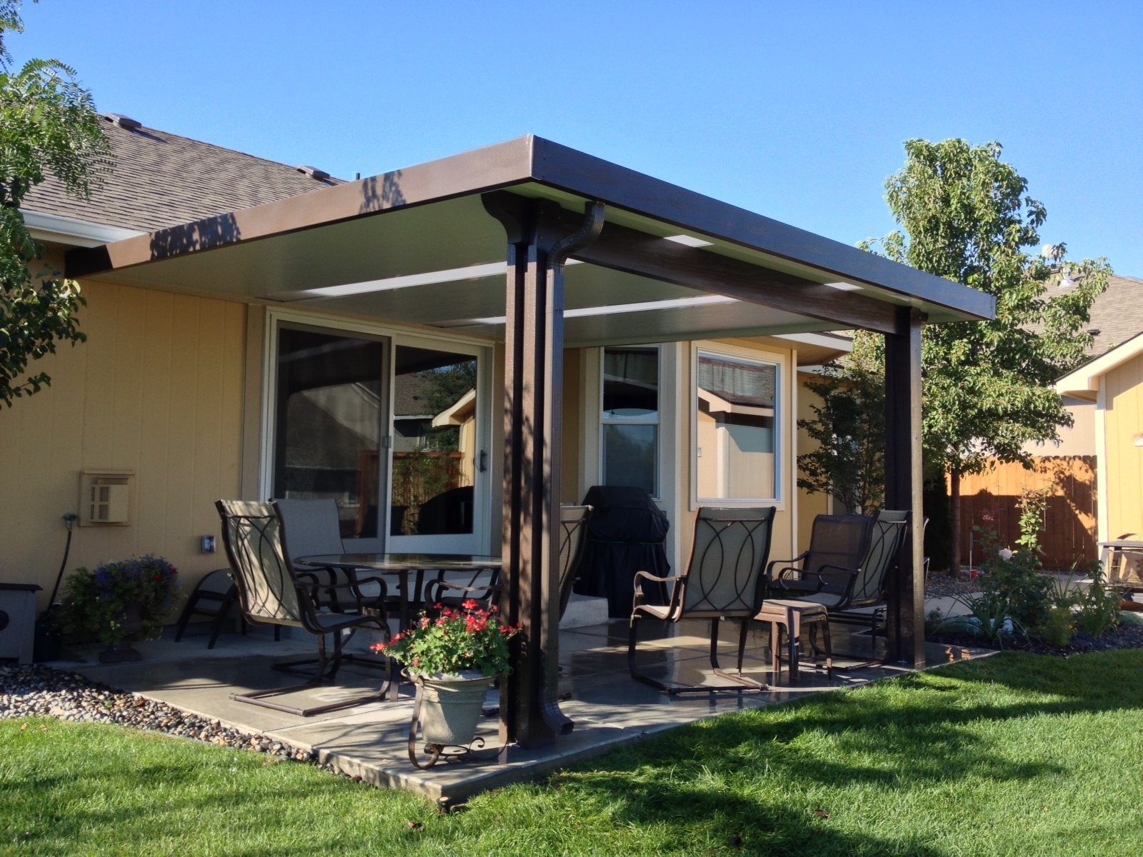 Patio cover gallery backyard by design for Patio cover ideas designs